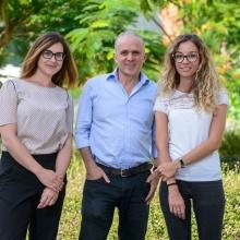 L-R: Dr. Donatella Romaniello, Prof. Yossi Yarden, Dr. Ilaria Marrocco