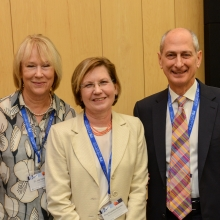 (L-R) Dr. Judy Dangoor, Prof. Elisabetta Boaretto, Mr. David Dangoor