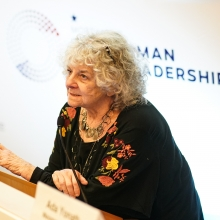 Prof. Ada Yonath, the keynote speaker at the Zuckerman Symposium