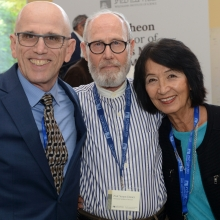 (L-R): Larry Marks, Prof. Yoram Groner, and Gladys Monroy