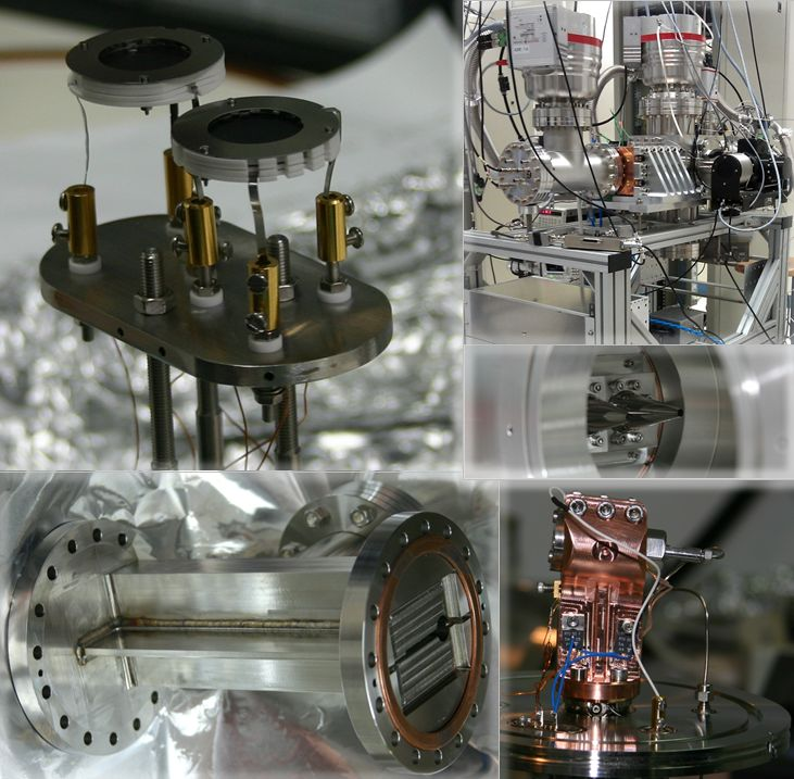 A collage of photos showing the setup needed for MAMBA experiment