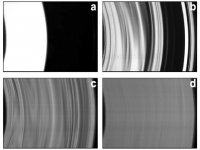 Photographs of the flow taken with laser sheet at  different N. Bright regions  correspond to high  fluorescent dye concentration