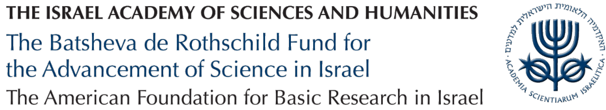 The Israel Academy of Sciences and Humanities, The Batsheva de Rothschild Fund for the advancement of Science in Israel