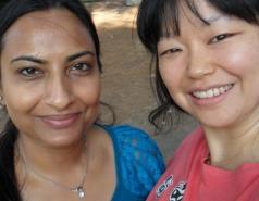 Lab members Sima Lev- Nandini Verma, SoHui Kim