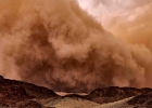 Dust storm in Park Timna