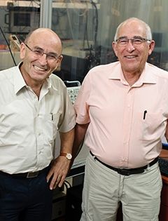 Prof. Avigdor Scherz and Prof. Yoram Salomon