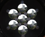 The Weizmann Observatory Tower through an optical multiplexer