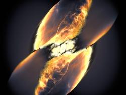 Type Ia Supernova  - a Collision of Two White Dwarfs