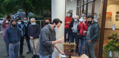 Lighting Hanukkah Candles 2020 picture no. 8
